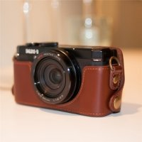 Genuine Cow Leather Protective Bottom Case Cover Bag for PENTAX MX1